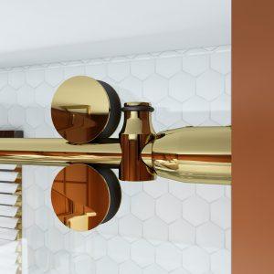Polished Gold Bermuda Shower Hardware